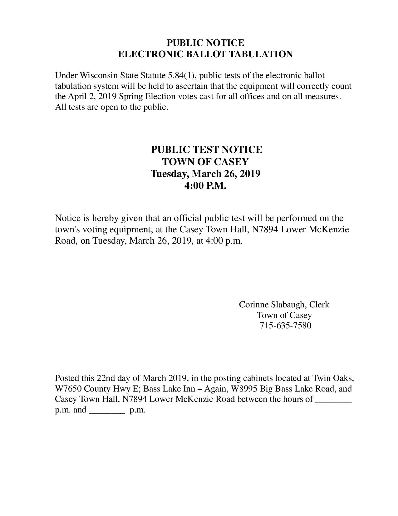 townweb Archive | Town of Casey, Washburn County, Wisconsin
